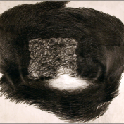 """Graphite on paper. Thematic drawing for undergraduate Thesis Performance: The Cave. Cornell University. (24"""" X 24"""")"""