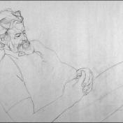 "Pencil on Newsprint. (18"" X 24"")"