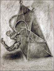 """Charcoal on paper. (18"""" X 24"""")"""
