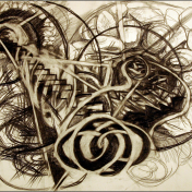 "Graphite on paper. (18"" X 24"")"